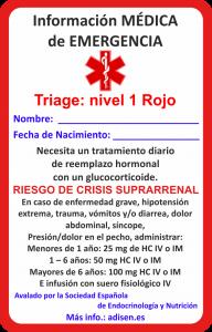 emergencia español niños